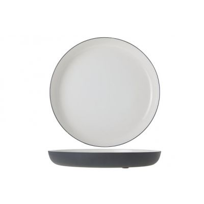 Cosy & Trendy Assiette Alu 29xh3cm Blanc Email Gris