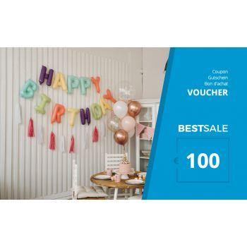 BestSale Shop Bon d'achat €25 – €500 / Birthday Balloon