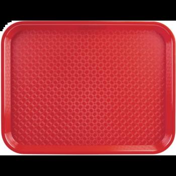 Plateau self-service Kristallon rouge 450 x 350mm