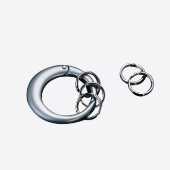 Point-Virgule porte-clefs rond avec 5 anneaux mini