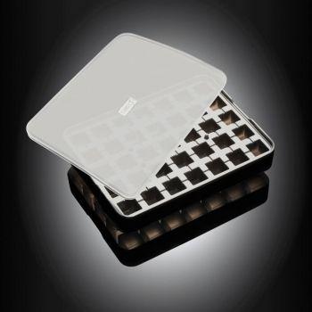 Lurch moule à glaçons en silicone cubique avec couvercle noir 2x2cm