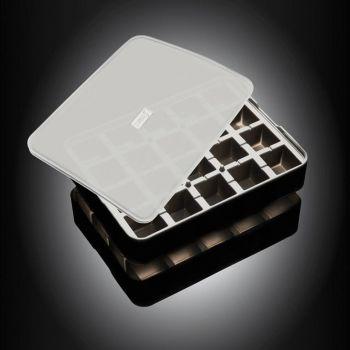 Lurch moule à glaçons en silicone cubique avec couvercle noir 3x3cm