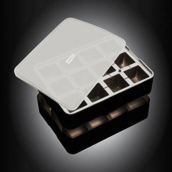 Lurch moule à glaçons en silicone cubique avec couvercle noir 4x4cm