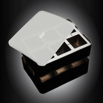Lurch moule à glaçons en silicone cubique avec couvercle noir 5x5cm