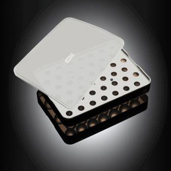 Lurch moule à glaçons en silicone pour perles avec couvercle noir ø 2cm