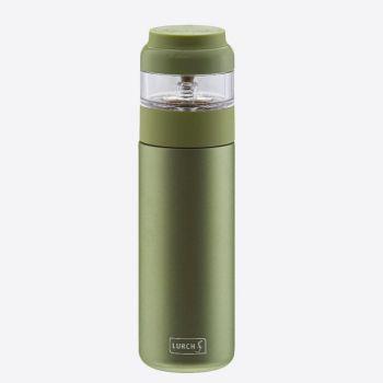 Lurch bouteille à thé à double paroi avec infuseur en inox vert 400ml