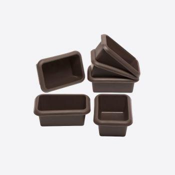 Lurch Flexiform set de 6 mini moules à pain en silicone 11x7.5cm