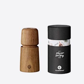 Crushgrind Stockholm Mini moulin à poivre ou à sel en bois de chêne brun 11cm