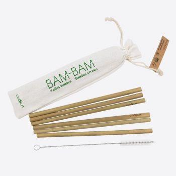 Cookut Bam Bam 6 pailles en bambou avec brosse de nettoyage 20cm (20pcs/disp.)