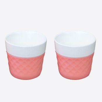 Cookut Lola set de 2 tasses à café en porcelaine rose 125ml