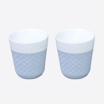 Cookut Lola set de 2 tasses à café en porcelaine bleu 200ml