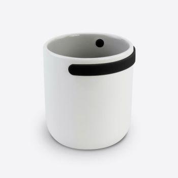Cookut tasse en porcelaine avec poignée en silicone noir 330ml