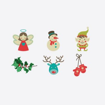Cookut Tatoo Eat set de 6 tatouages différents pour assiette Noël