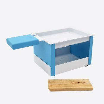 Cookut Yeti set à raclette individuel pliable bleu 15x8x6.5cm