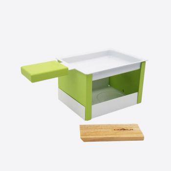 Cookut Yeti set à raclette individuel pliable vert 15x8x6.5cm