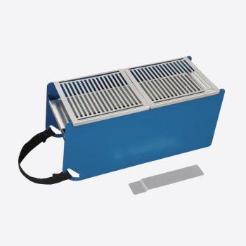 Cookut Yaki barbecue de table en métal bleu 41x18x17cm