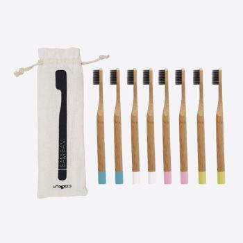 Cookut Bam Bam 8 brosses à dents en bambou 4 couleurs différentes (12pcs/disp.)