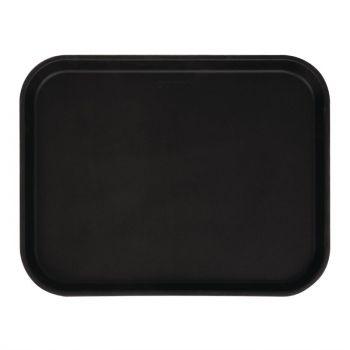 Plateau rectangulaire antidérapant en fibre de verre Camtread Cambro noir 45;7 cm