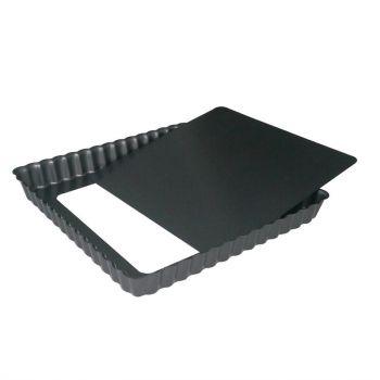Moule à tarte carré antiadhésif avec fond amovible De Buyer 23cm