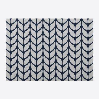 Day Drap set de table antidérapant en coton Soft Wool bleu et gris 45x32cm