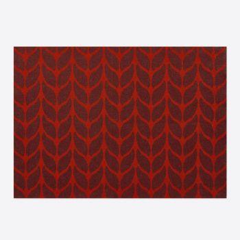 Day Drap set de table antidérapant en coton Soft Wool rouge et aubergine 45x32cm