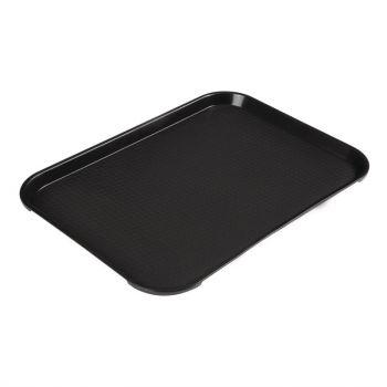 Plateau rectangulaire en polypropylène Fast Food Cambro noir 41 cm