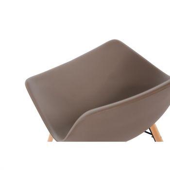 Chaise moulée PP avec structure métallique Arlo Bolero café (lot de 2)