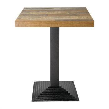 Plateau de table carré Bolero effet bois vieilli - 60 cm