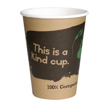 Gobelets boissons chaudes PLA compostables Fiesta Green 22;5 cl (x50)
