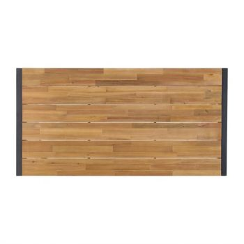 Table industrielle rectangulaire acier et acacia Bolero 180 cm