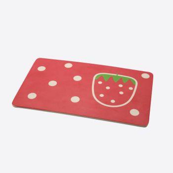 Dotz Kids planche petit-déj fibre de bambou Fraise 23x14x0.3cm (par 10pcs)