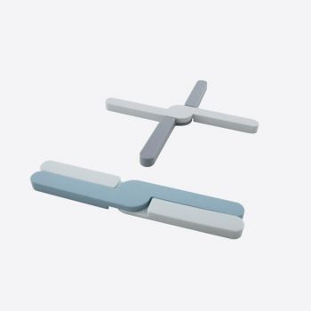 Dotz sous-plat pliable en silicone gris ou bleu 20x3.2x1.1cm (36pcs/disp.)