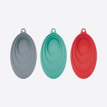 Dotz porte-cuillère par Nik Baeyens rouge; gris ou bleu aqua (12pcs/disp.)