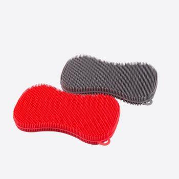 Dotz éponge en silicone gris ou rouge 13x8cm (24pcs/disp.)