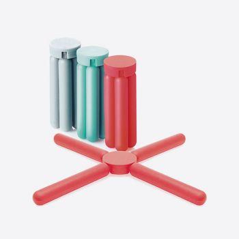 Dotz sous-plat pliable en silicone rouge; gris ou bleu aqua (15pcs/disp.)