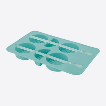 Dotz moule à glaçons en silicone fruits bleu aqua 11.5x8.5x1.5cm