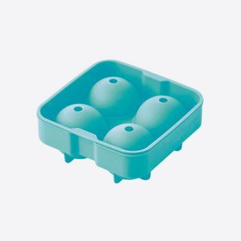 Dotz moule à glaçons ronds en silicone pour 4 boules bleu aqua ø 4.5cm