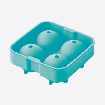 Dotz moule à glaçons en silicone pour 4 boules bleu aqua ø 6cm