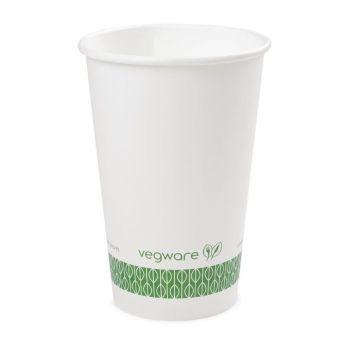 Gobelets boissons chaudes compostables Vegware blancs 45;5 cl (x1000)