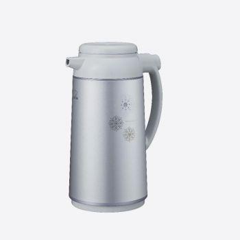 Zojirushi pichet isotherme avec bouteille intérieure en verre gris argenté 1.3L