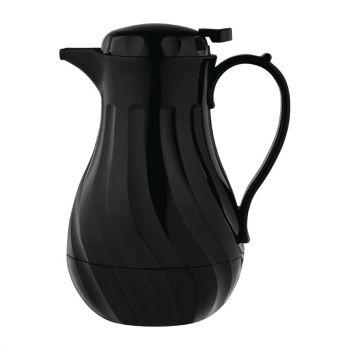 Pichet isotherme torsadé Olympia noir 2L