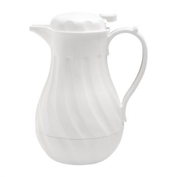 Pichet isotherme torsadé Olympia blanc 2L