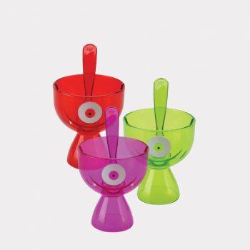 Joie Monster Fun coupe de glace violet; vert ou rouge 13.3x9.5x14.6cm (8 ass.)