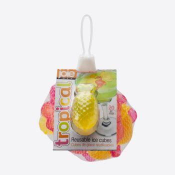 Joie Tropical set de 20 glaçons réutilisables flamant rose et ananas