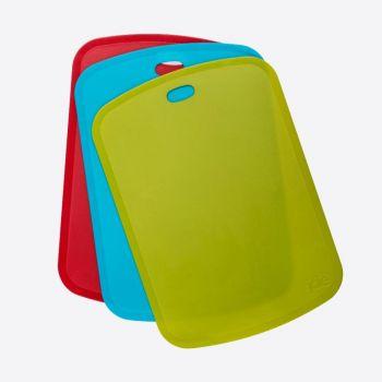 Joie set de 3 tapis à découper en matière synthétique vert; bleu et rouge 19x35.5x1.8cm
