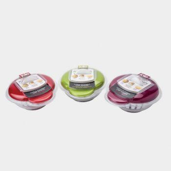 Joie set pour faire des chips au micro. rouge; vert ou violet 14.6x8.2x18.4cm (6 ass.)