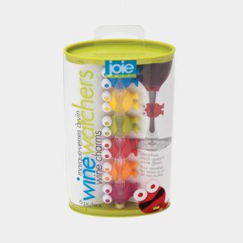 Joie Watcher set de 6 marqueurs de verre bonhommes
