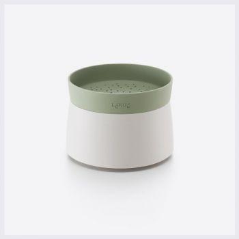 Lékué cuiseur à riz & quinoa pour four à micro-ondes blanc et vert Ø 13cm H 17.8cm