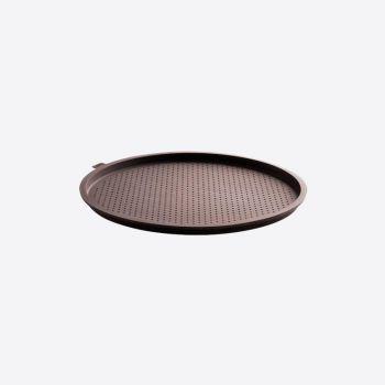 Lékué forme à pizza ronde à trous en silicone brun Ø 36cm H 1.7cm