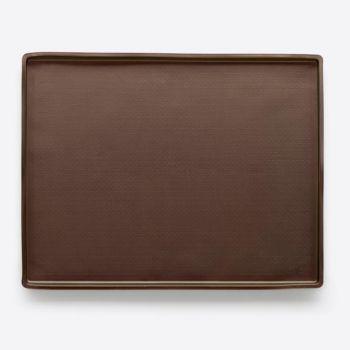 Lékué tapis de cuisson anti-éclaboussures en silicone brun 40x30x1.2cm